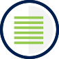 Stacked lines representing a list of benefits icon