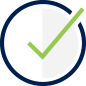 Checking Account Option Icon - Large green checkmark
