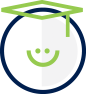 Enable U icon - smiley face with a grad cap