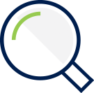 Manage icon - magnifying glass