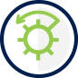 Bank Savings Option Icon - Vault door opening