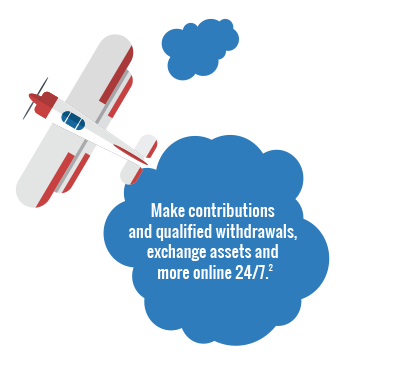 Make contributions and qualified withdrawals, exchange assets and more online 24/7