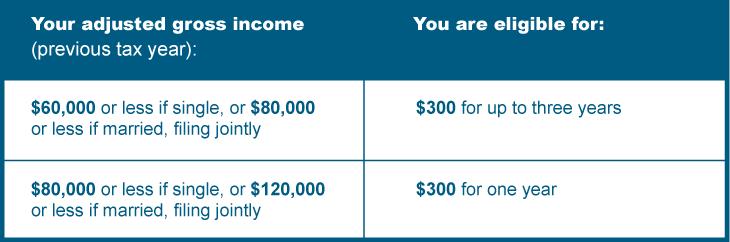Matching Grant Benefits Chart