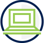 Digital Library icon - computer