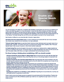 Enable and Special Needs Trust PDF Cover