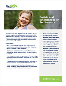 Enable and Inheritances or Settlements PDF Cover