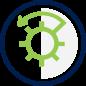 Bank Savings Option Icon - Vault door opening