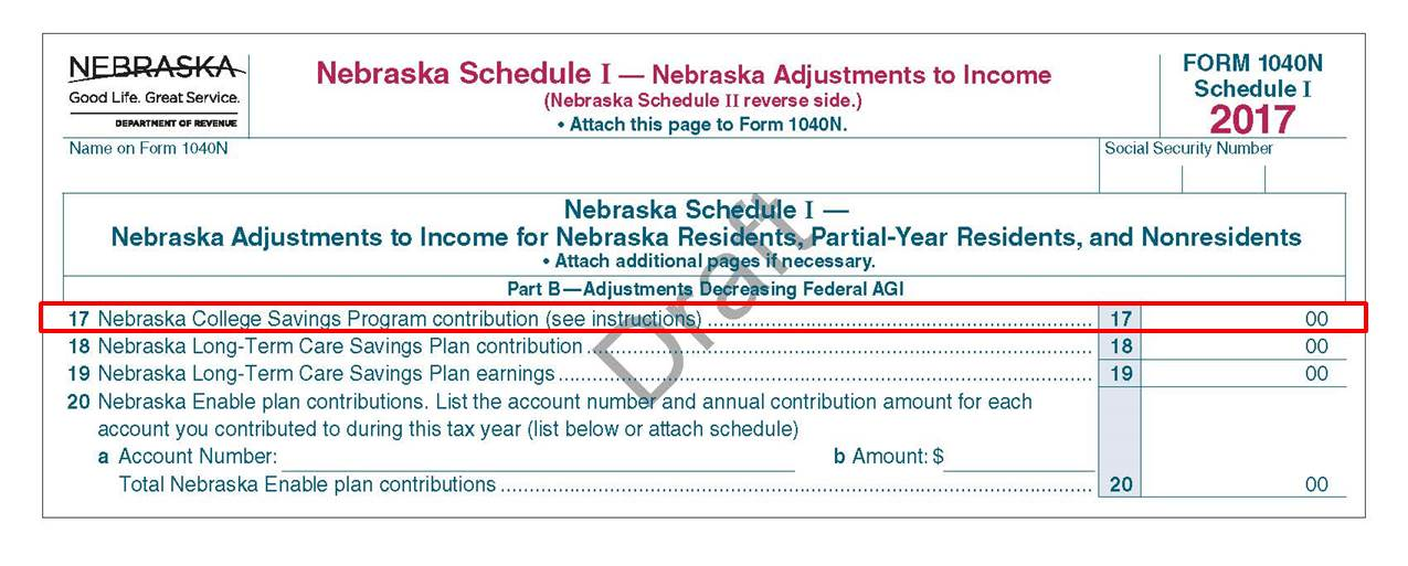 Nebraska Tax Form Tips  Nest  College Savings